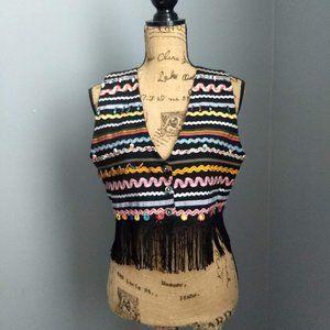 Vintage Joujou Fringed Black Ribbon West
